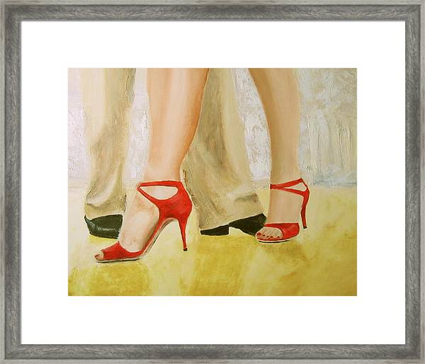 Oh Those Red Shoes Framed Print