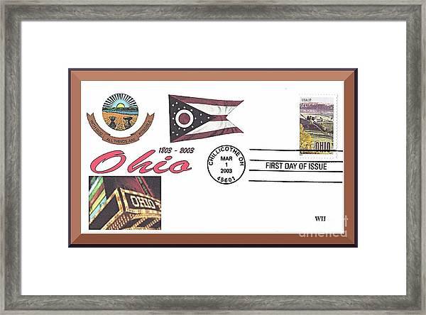 Ohio Bicentennial Cover #2 Framed Print