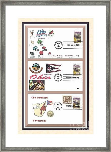 Ohio Bicentennial First Day Covers Framed Print