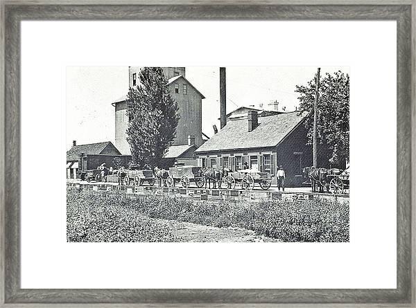Ohio Erie Canal - Circa 1911 Framed Print