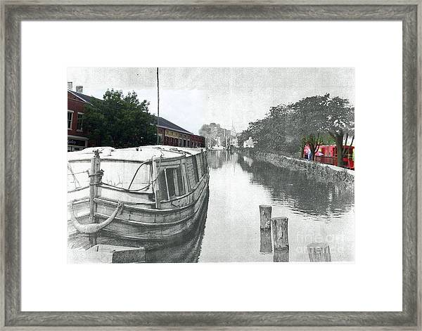 Ohio Erie Canal - Retouched Framed Print