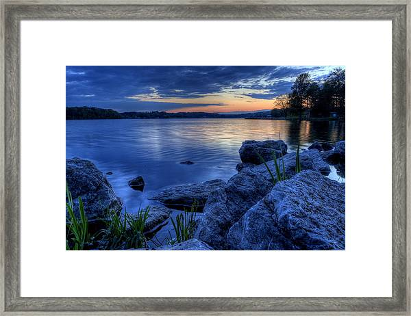 Ohio Spring Sunset Framed Print