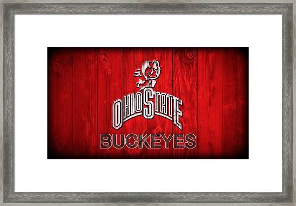 Ohio State Buckeyes Barn Door Vignette Framed Print