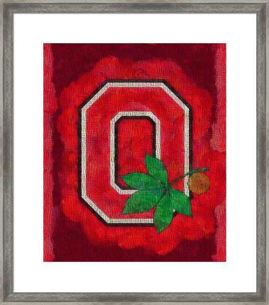 Ohio State Buckeyes On Canvas Framed Print