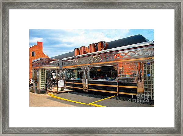 Ohio University Court Street Diner Framed Print