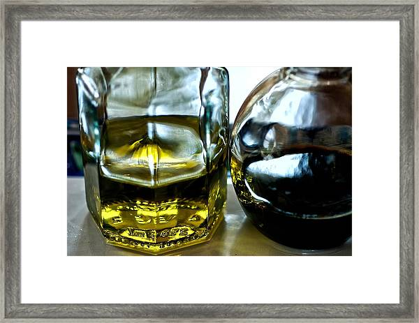 Oil And Vinegar 2 Framed Print by Guillermo Hakim