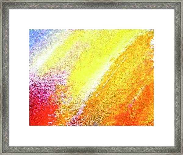 Oil Crayon And Watercolour On Rough Framed Print