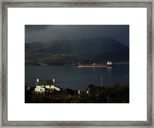 Oil Delivery Framed Print