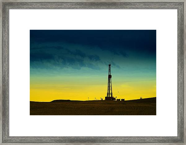 Oil Rig In The Spring Framed Print