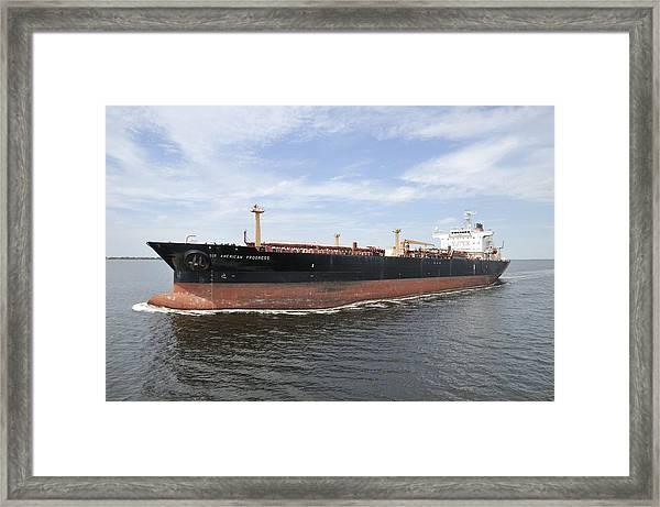 Oil Tanker Framed Print