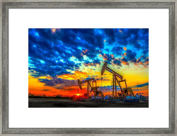 Oilfield Color Burst Framed Print