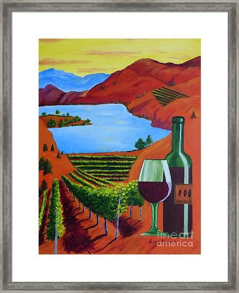 Okanagan Wine Country Framed Print