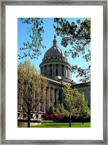 Oklahoma City Capitol In The Spring Framed Print