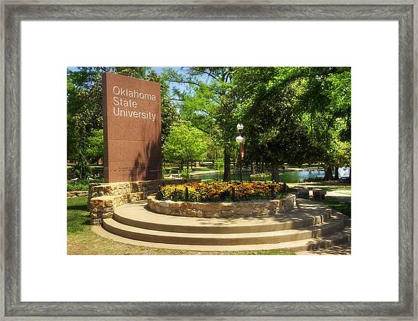 Oklahoma State University Framed Print