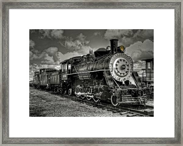 Old 104 Steam Engine Locomotive Framed Print