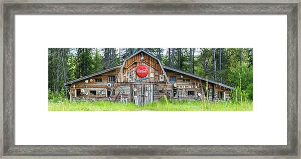 Old Americana Barn, Montana, Usa Framed Print by Peter Adams