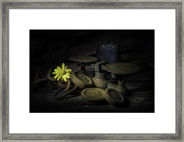 Old And Rusted Still Life Framed Print
