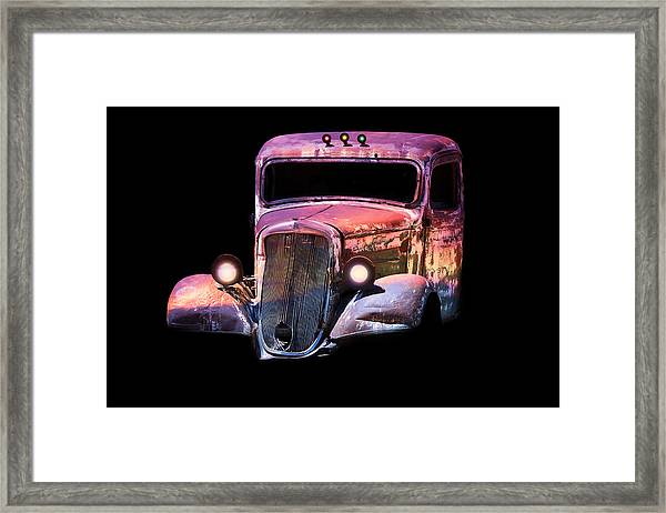 Old Antique Classic Car Framed Print