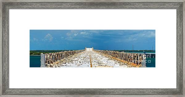 Old Bahia Honda Bridge Florida Keys Framed Print