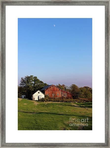 Old Barn At Sunset Framed Print