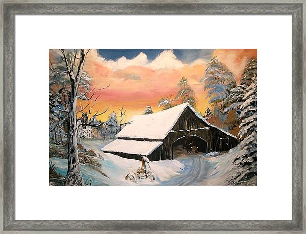 Old Barn Guardian Framed Print