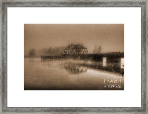 Old Berkley Dighton Bridge Framed Print