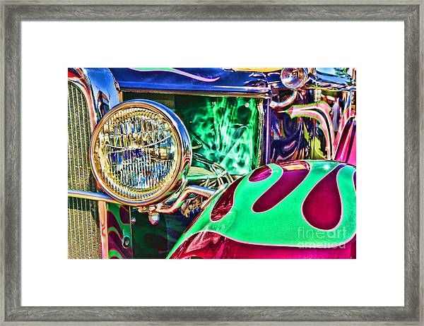 Old Betty Ford Vintage Car By Diana Sainz Framed Print
