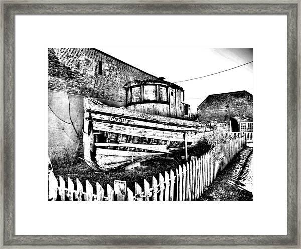 Old Boat In Apalachicola Framed Print