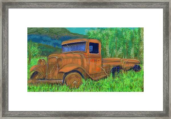 Old Canadian Truck Framed Print