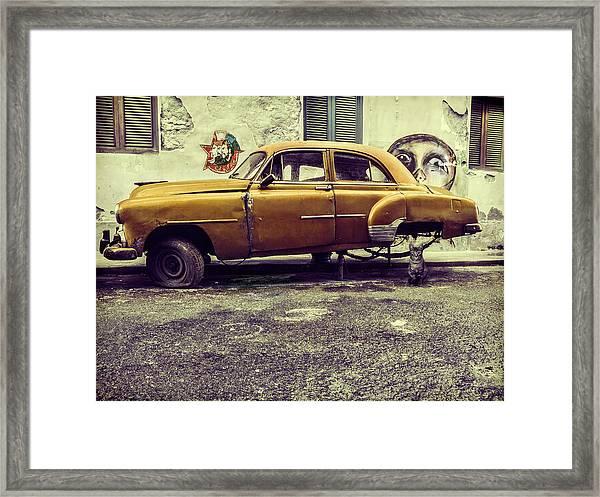 Old Car/cat Framed Print by Svetlin Yosifov