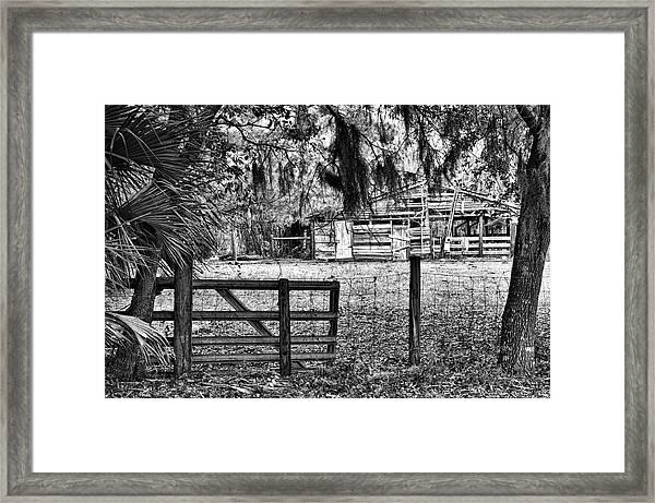 Old Chisolm Island Barn Framed Print