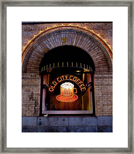 Old City Coffee Framed Print