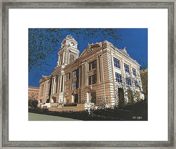 Old City Hall Reversed Reverse Framed Print by Paul Guyer