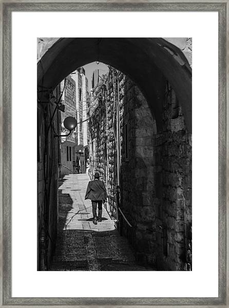 Old City Jerusalem Streets Framed Print