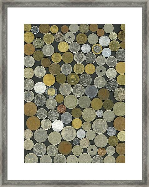 Old Coins Framed Print