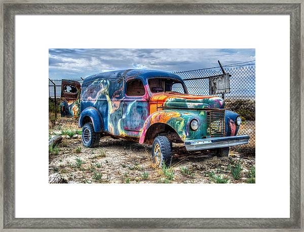 Old Colored Truck Framed Print