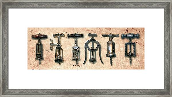 Old Corkscrews Painting Framed Print