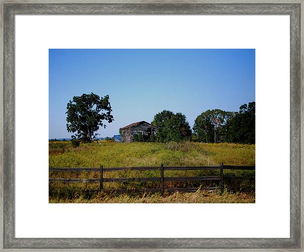 Old Country Barn Framed Print