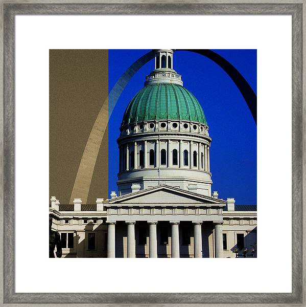 Old Courthouse Dome Arch Framed Print