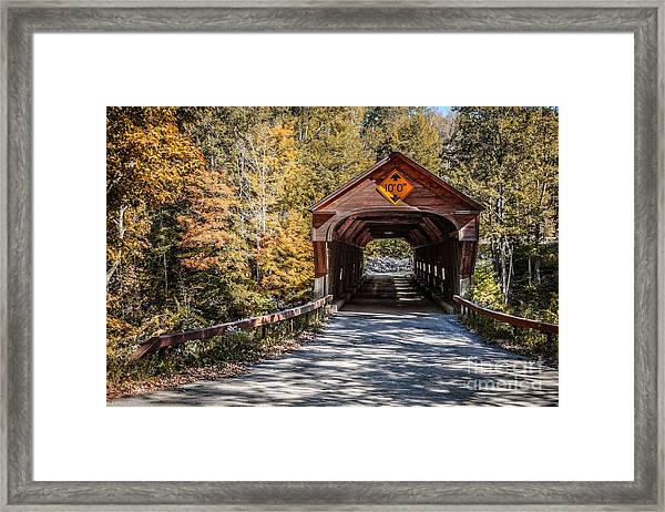 Old Covered Bridge Vermont Framed Print