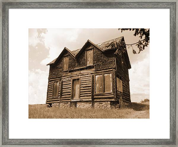 Old Cripple Creek Cabin Framed Print