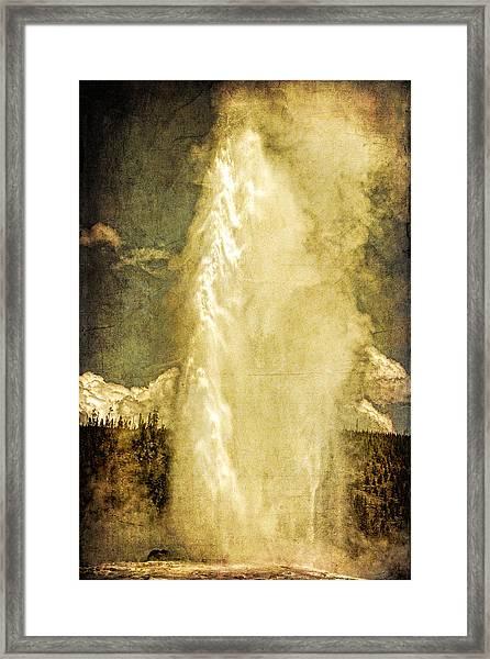 Old Faithful Memories Framed Print