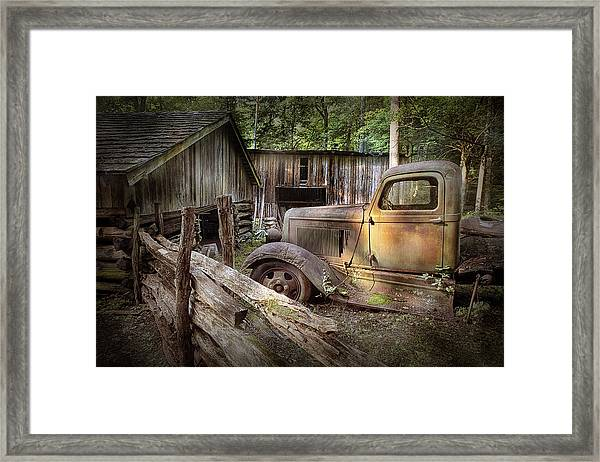 Old Farm Pickup Truck Framed Print