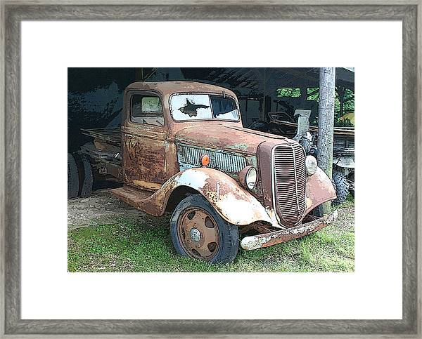 Old Farm Truck Framed Print