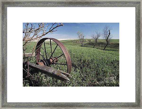 Old Farm Wagon Framed Print
