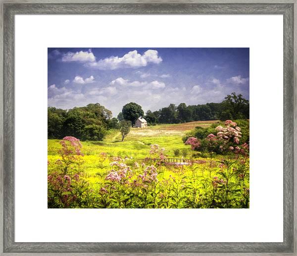 Old Farmhouse At Longwood Gardens Framed Print
