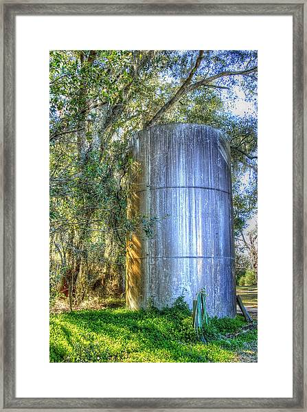Old Fertilizer Tank Framed Print