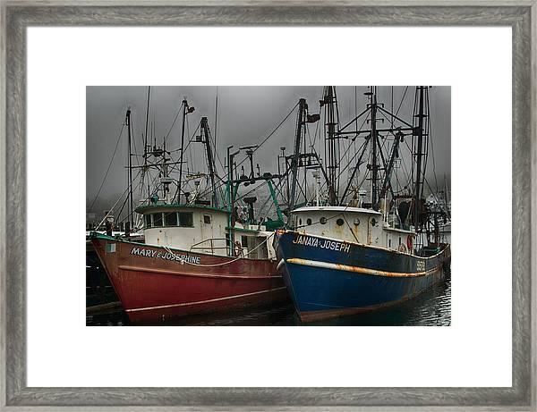 Old Fishing Boats Framed Print