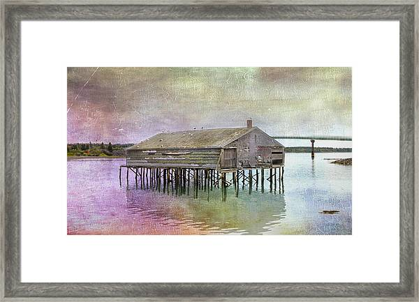 Old Fishing Pier  Framed Print