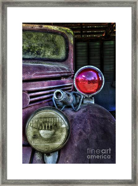 Old Ford Firetruck Framed Print